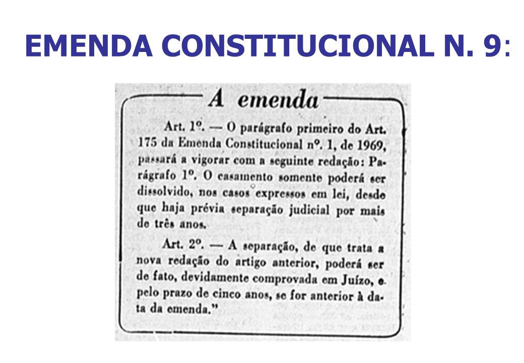 EMENDA CONSTITUCIONAL N. 9: