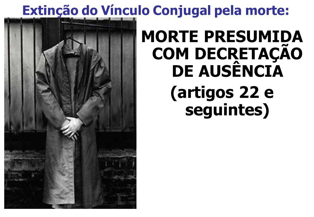 FASES DO PROCESSO DE AUSÊNCIA: 1ª - Desaparecimento do domicílio – nomeação de curador (art.