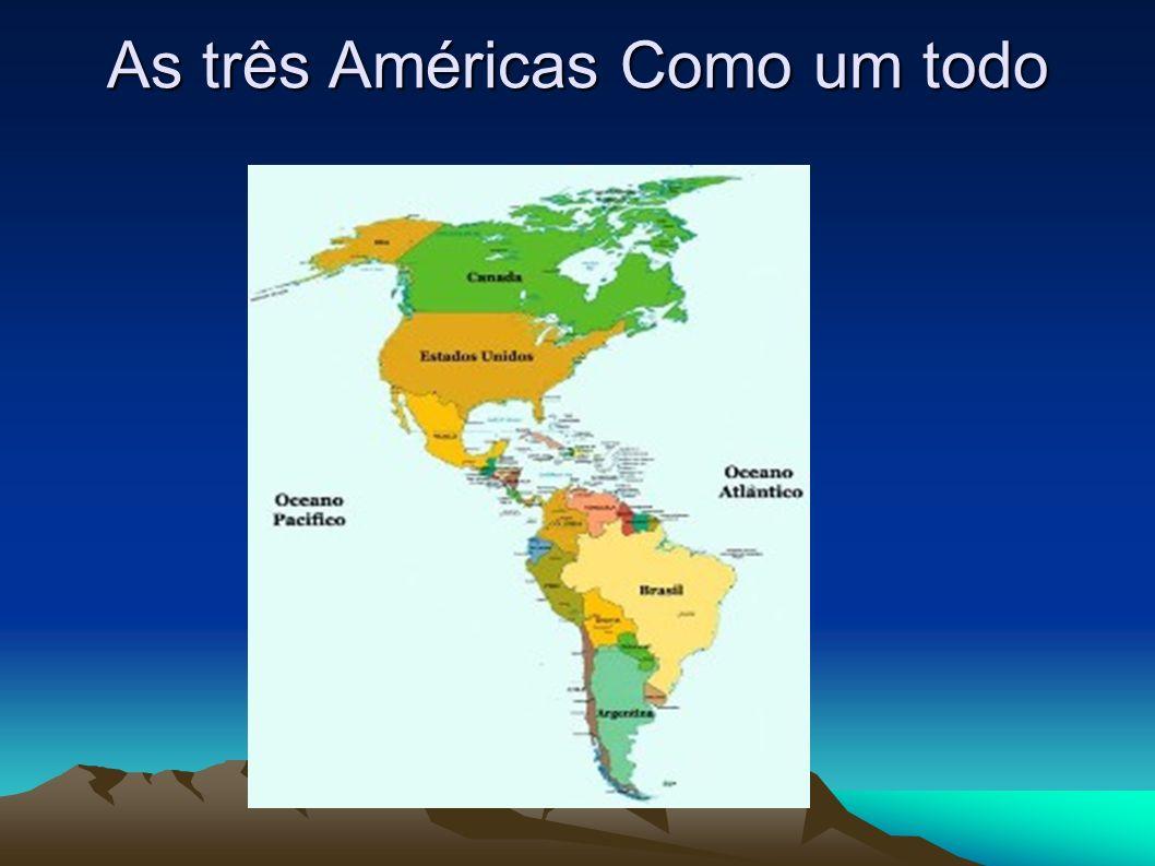 LOCALIZAÇÃO:LOCALIZAÇÃO: A América é um continente localizado no ocidente, fixado entre os oceanos Pacífico e Atlântico.