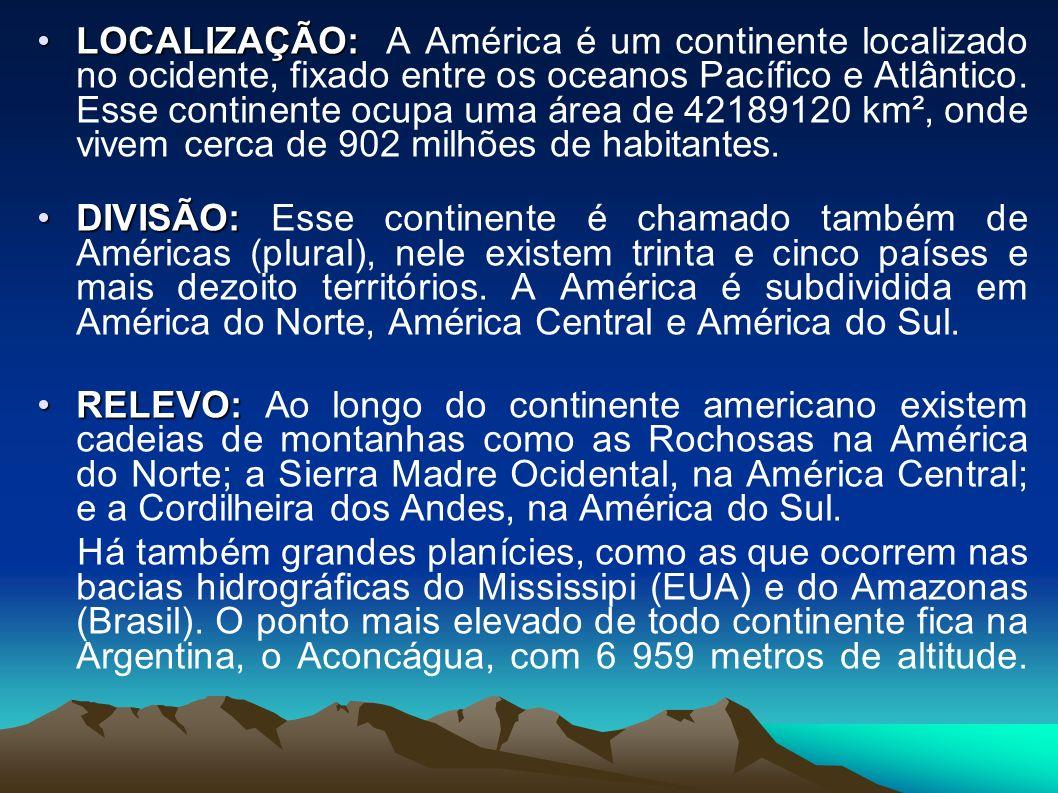 América do Sul, em recurso hídrico, possui uma das maiores bacias hidrográficas do mundo, como por exemplo, a bacia do Amazonas que é a maior do mundo.