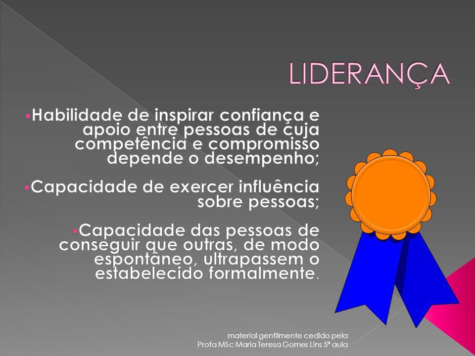 material gentilmente cedido pela Profa MSc Maria Teresa Gomes Lins 5ª aula