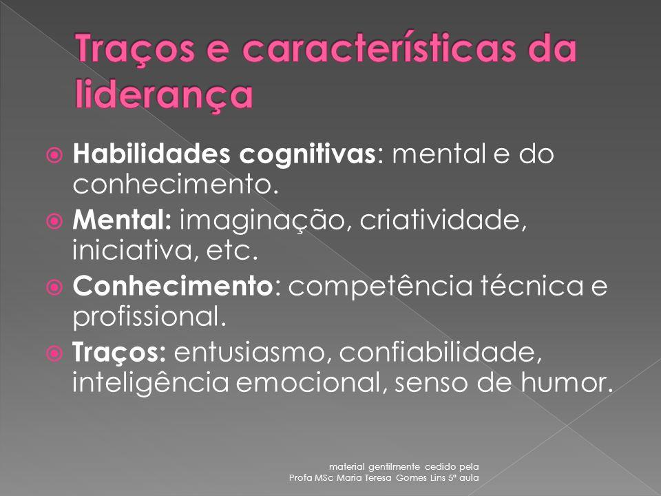 Atributos pessoais X Resultados material gentilmente cedido pela Profa MSc Maria Teresa Gomes Lins 5ª aula