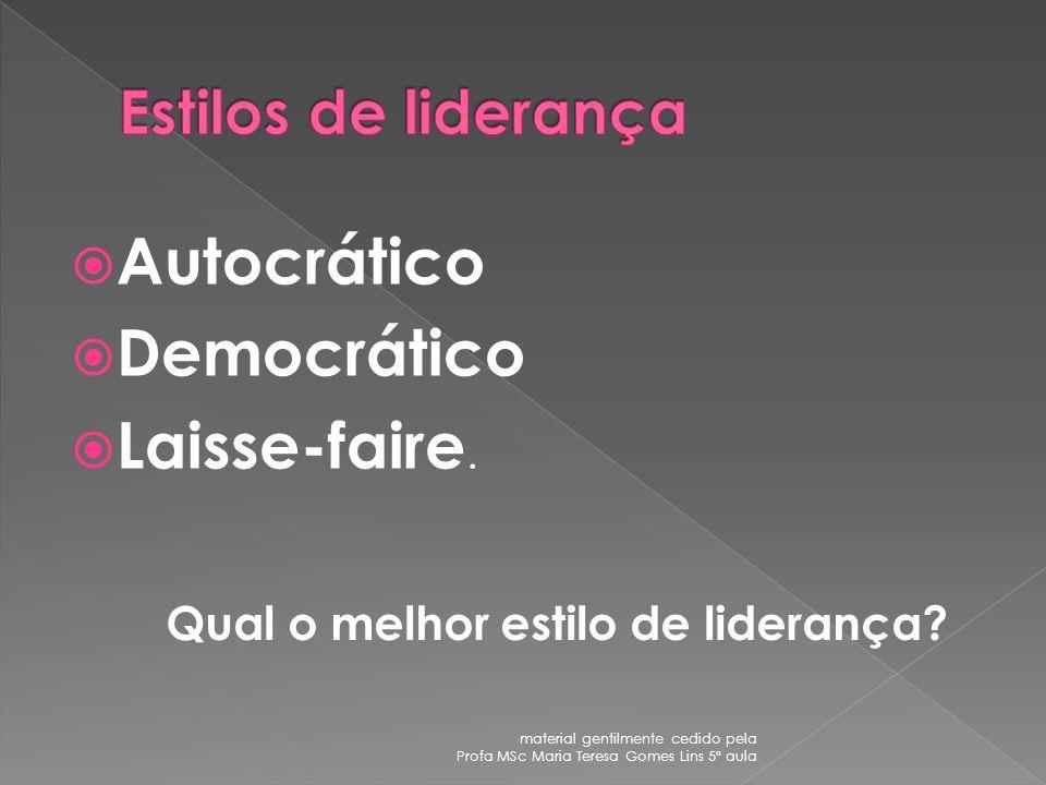 Autocrático Democrático Laisse-faire.