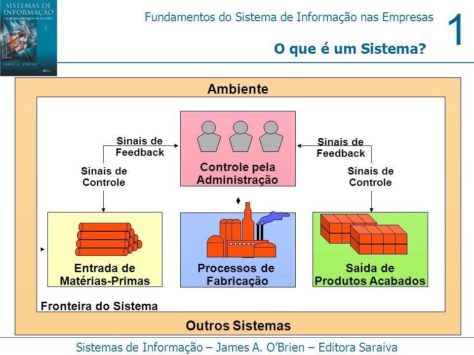 1 Fundamentos do Sistema de Informação nas Empresas Sistemas de Informação – James A. OBrien – Editora Saraiva O que é um Sistema? Processos de Fabric