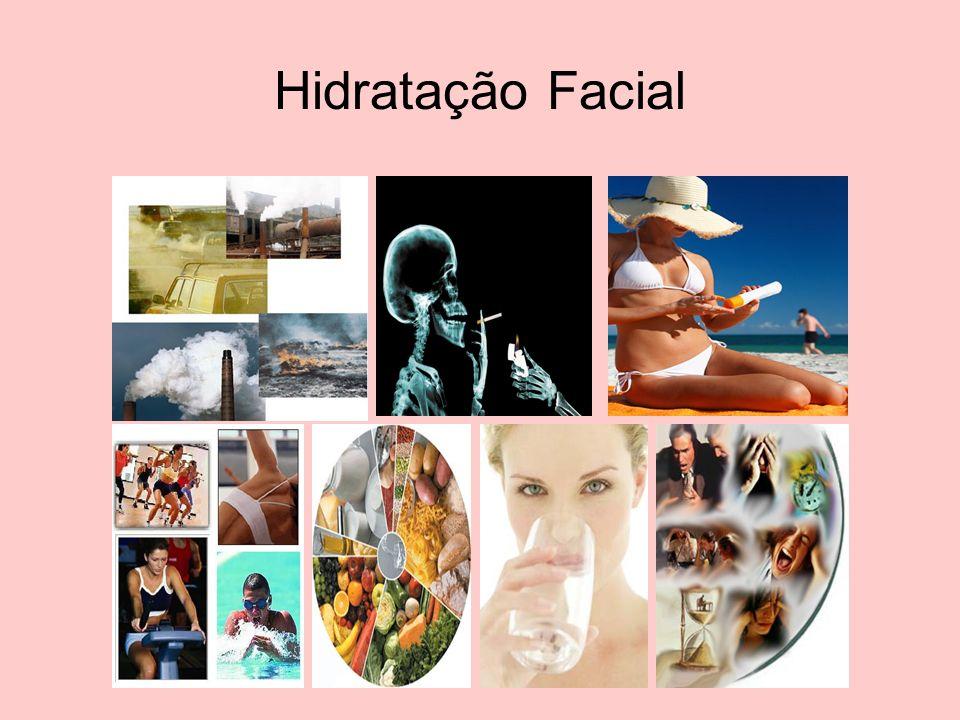 TIPOS DE PELE Pele Normal: é uma pele equilibrada, tem superfície lisa, flexível, lubrificante e umedecida.