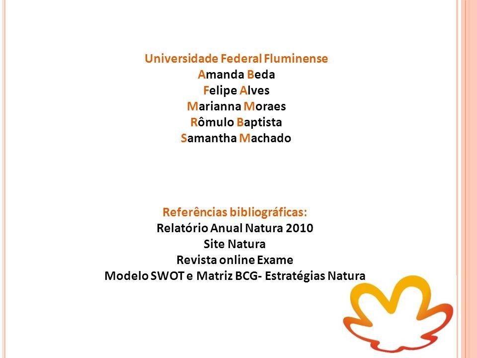 Universidade Federal Fluminense Amanda Beda Felipe Alves Marianna Moraes Rômulo Baptista Samantha Machado Referências bibliográficas: Relatório Anual