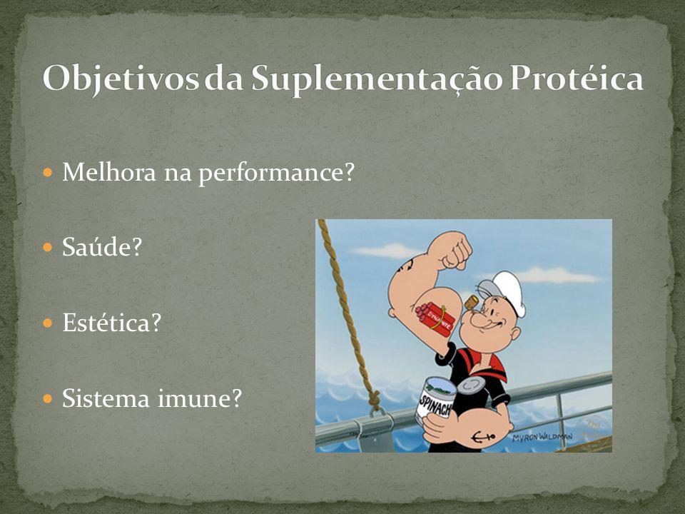 Melhora na performance? Saúde? Estética? Sistema imune?