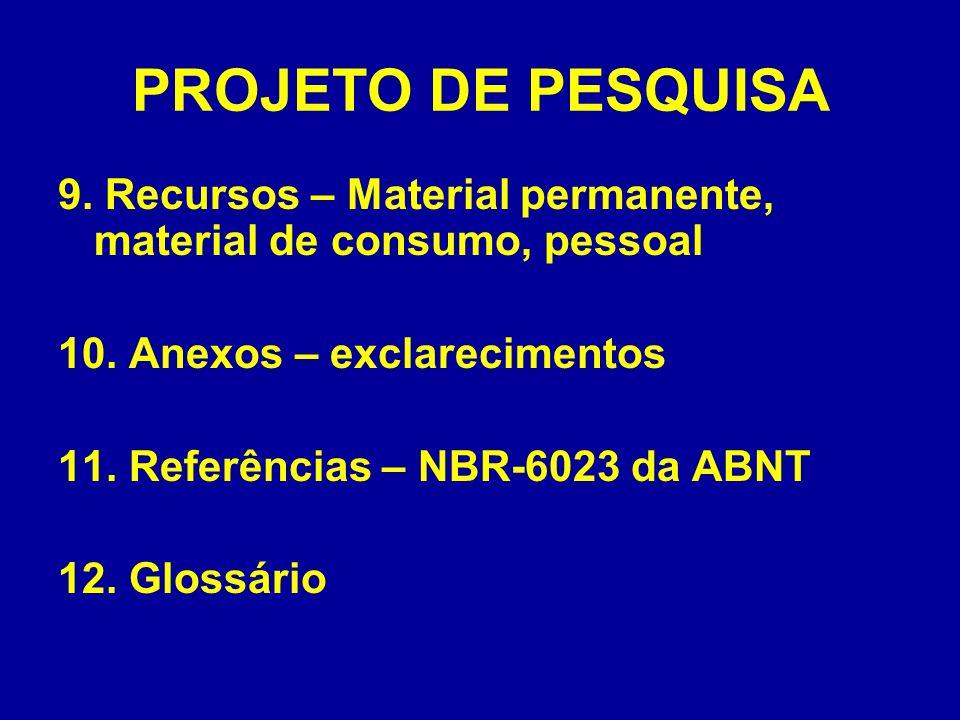 PROJETO DE PESQUISA 13.