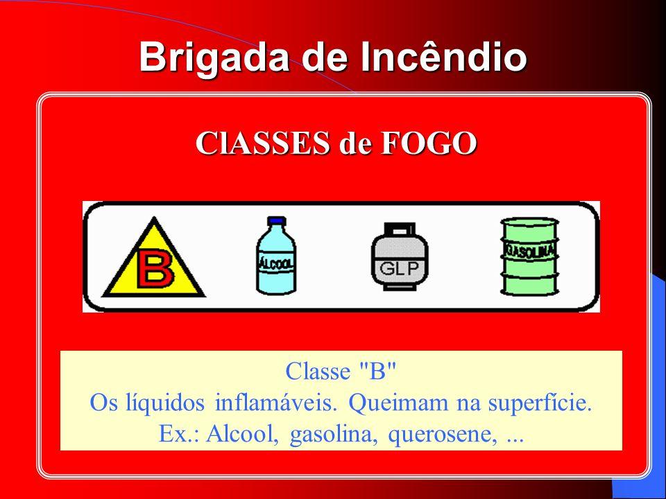 Brigada de Incêndio ClASSES de FOGO Classe