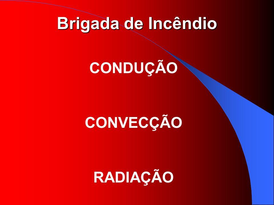 Brigada de Incêndio CONDUÇÃO CONVECÇÃO RADIAÇÃO