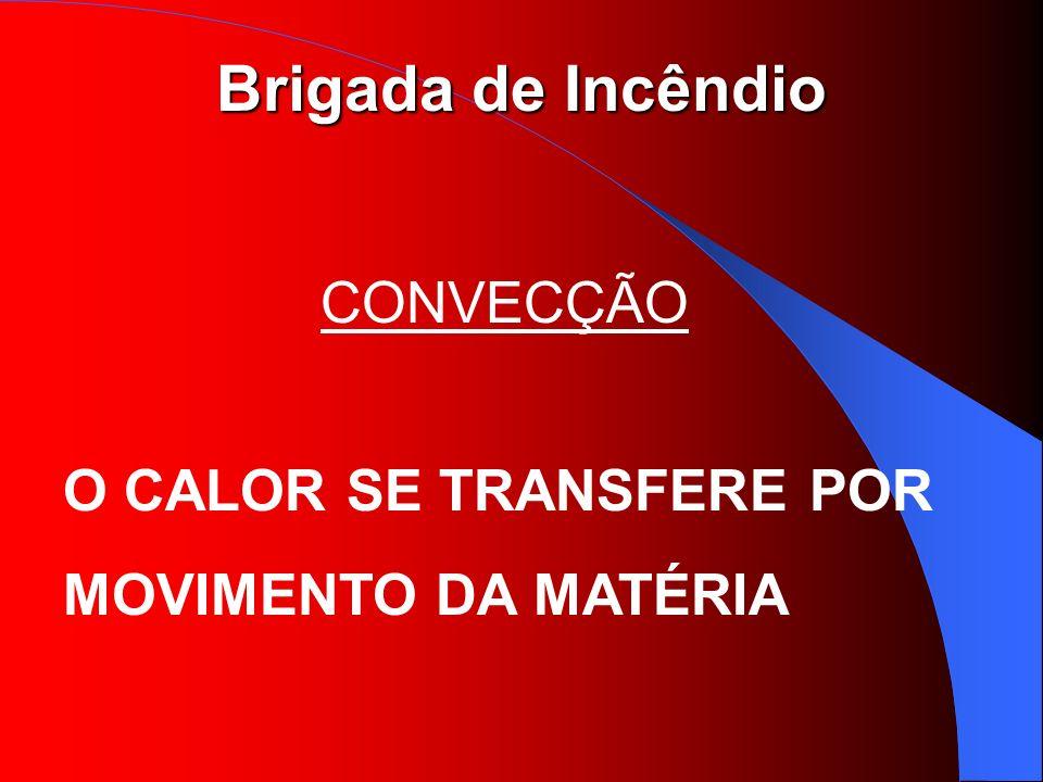 Brigada de Incêndio CONVECÇÃO O CALOR SE TRANSFERE POR MOVIMENTO DA MATÉRIA