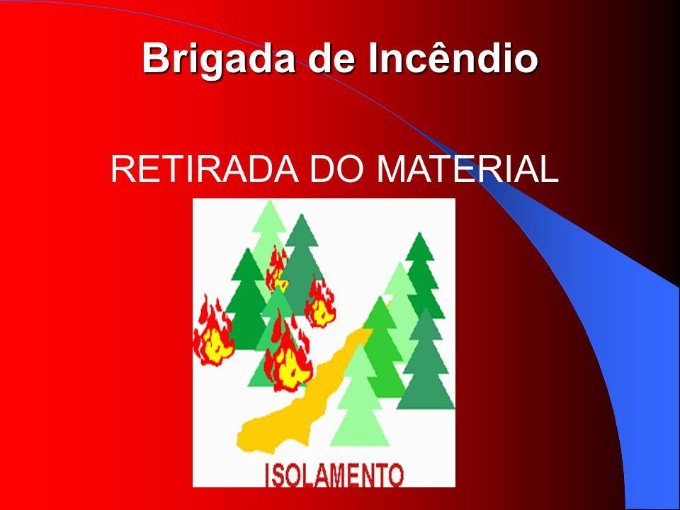 Brigada de Incêndio RETIRADA DO MATERIAL