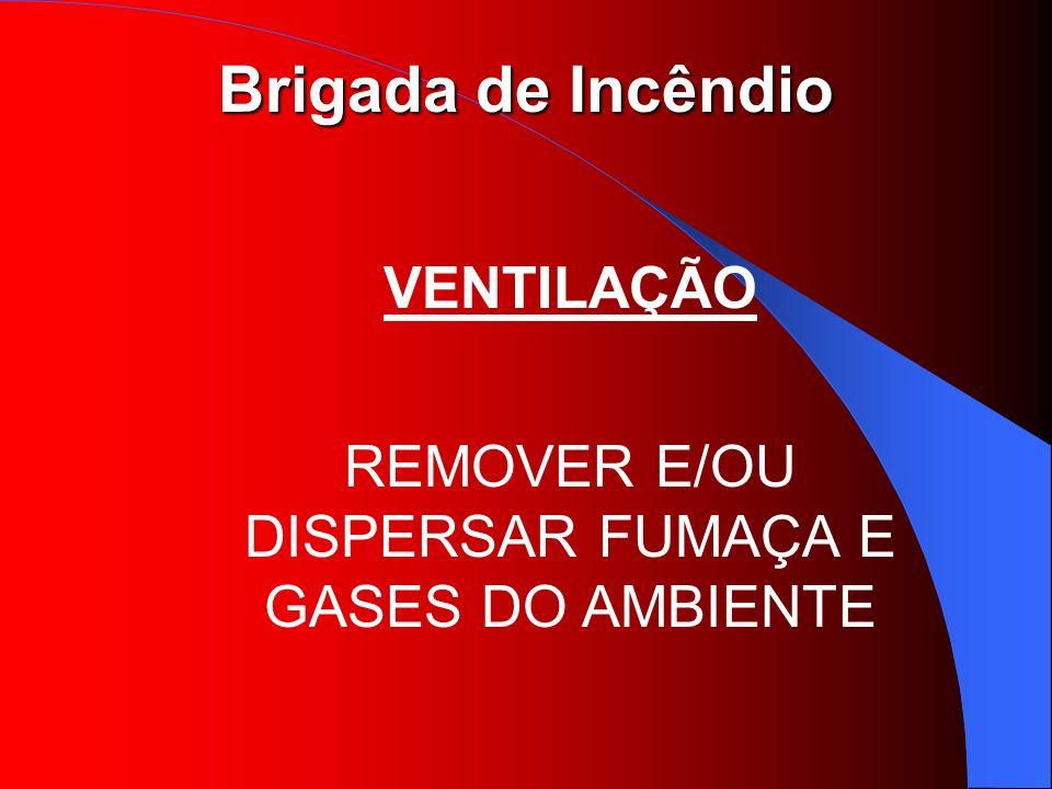Brigada de Incêndio VENTILAÇÃO REMOVER E/OU DISPERSAR FUMAÇA E GASES DO AMBIENTE