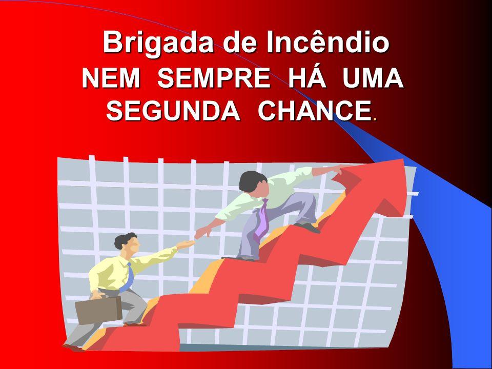 Brigada de Incêndio NEM SEMPRE HÁ UMA SEGUNDA CHANCE.