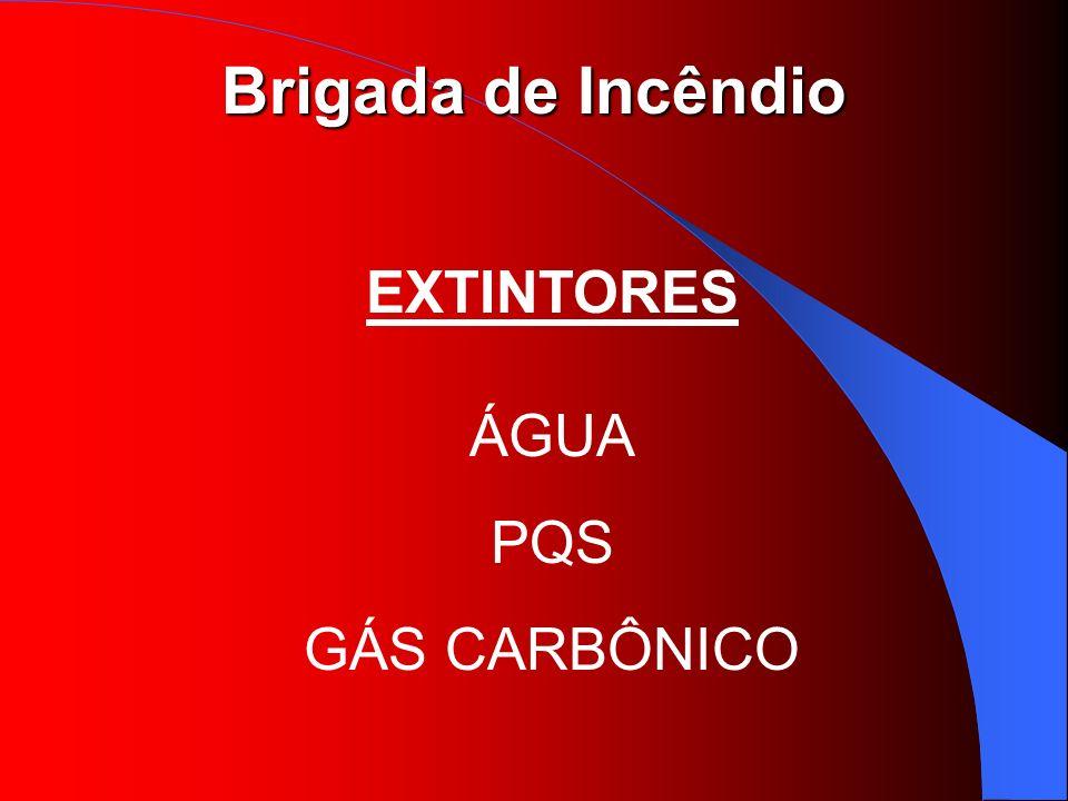 Brigada de Incêndio EXTINTORES ÁGUA PQS GÁS CARBÔNICO