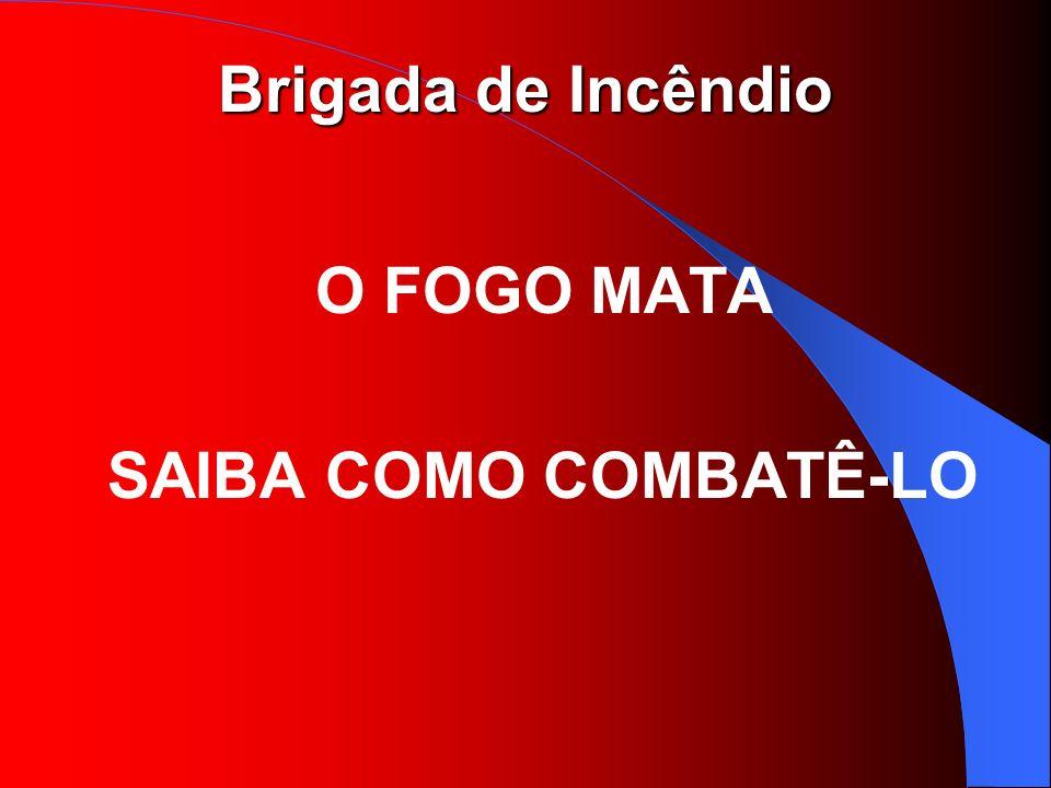 Brigada de Incêndio O FOGO MATA SAIBA COMO COMBATÊ-LO
