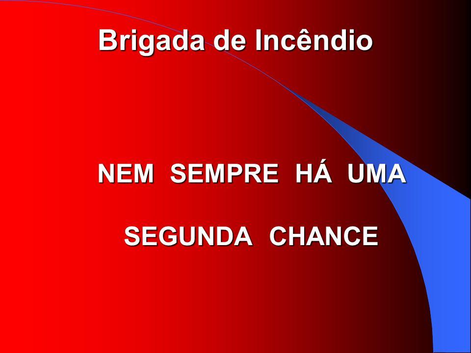 Brigada de Incêndio NEM SEMPRE HÁ UMA SEGUNDA CHANCE