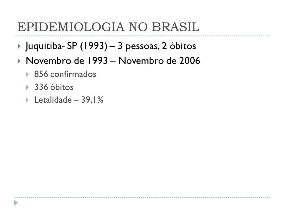 Hantavirose: casos e taxas de letalidade no Brasil, 1993 a 2007