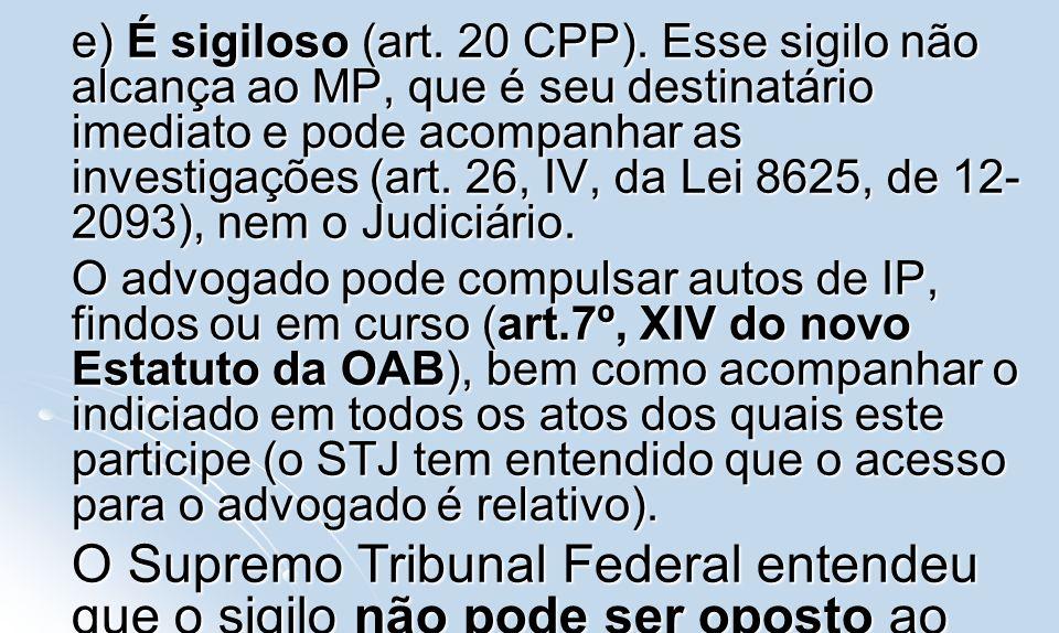 III.Representação III. Representação a). Natureza jurídica: condição de procedibilidade a).