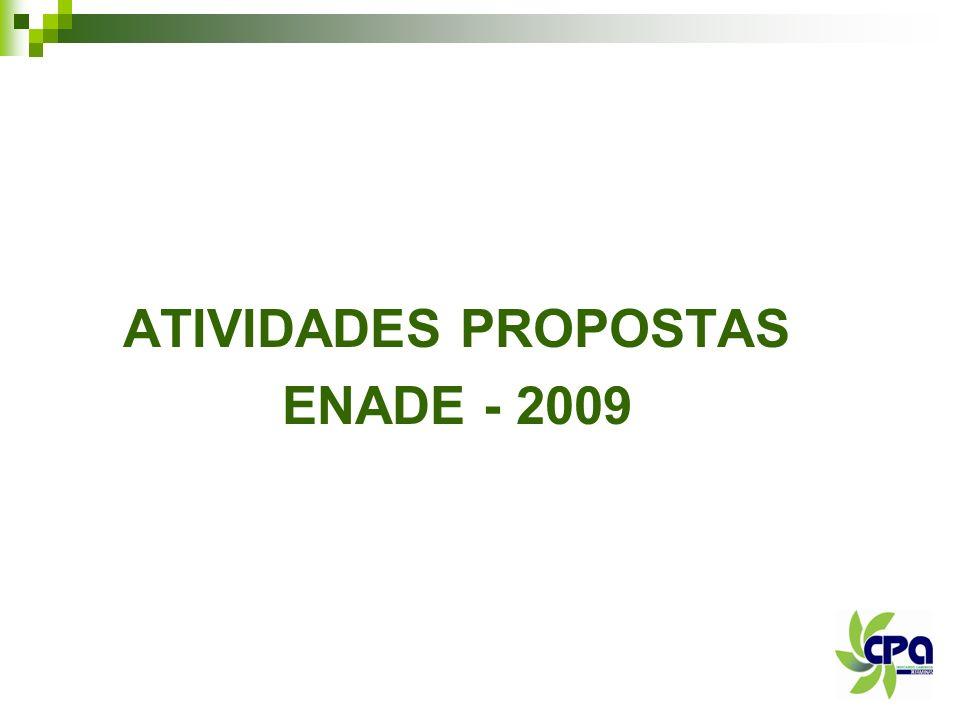 ATIVIDADES PROPOSTAS ENADE - 2009