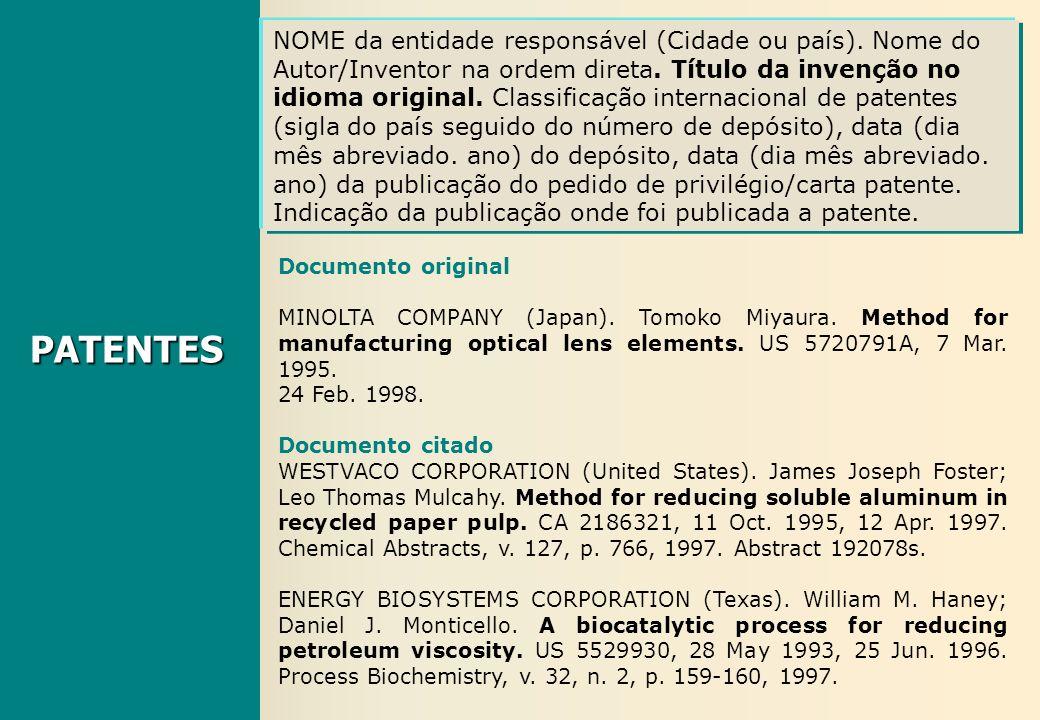 Documento original MINOLTA COMPANY (Japan). Tomoko Miyaura. Method for manufacturing optical lens elements. US 5720791A, 7 Mar. 1995. 24 Feb. 1998. Do