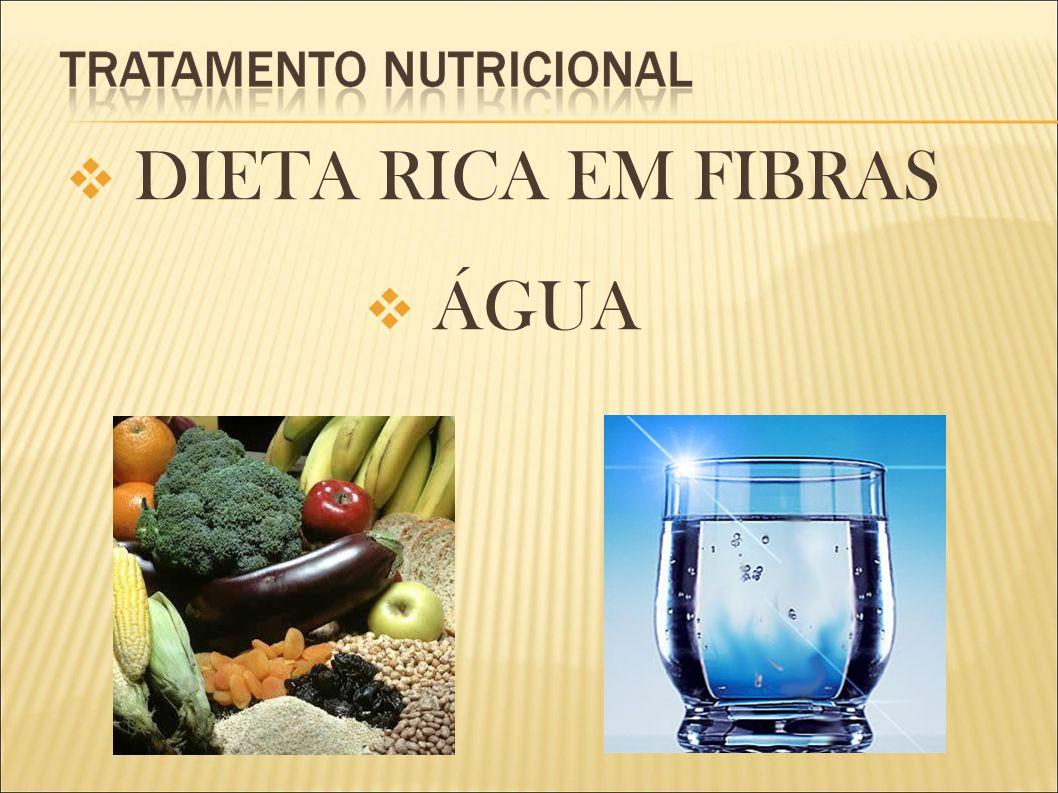 DIETA RICA EM FIBRAS ÁGUA