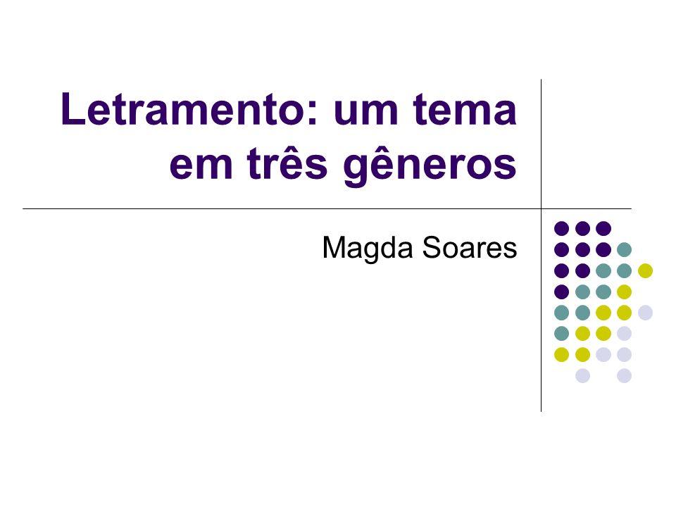 Letramento: um tema em três gêneros Magda Soares