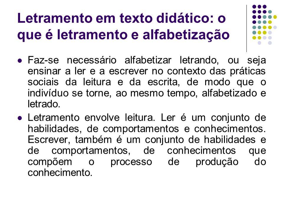 Letramento em ensaio – Letramento: como definir, como avaliar, como medir.