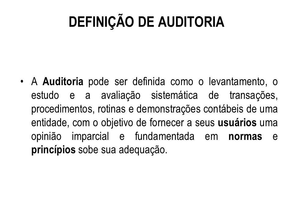 O SURGIMENTO DO AUDITOR DE PRÁTICAS FINANCEIRAS.