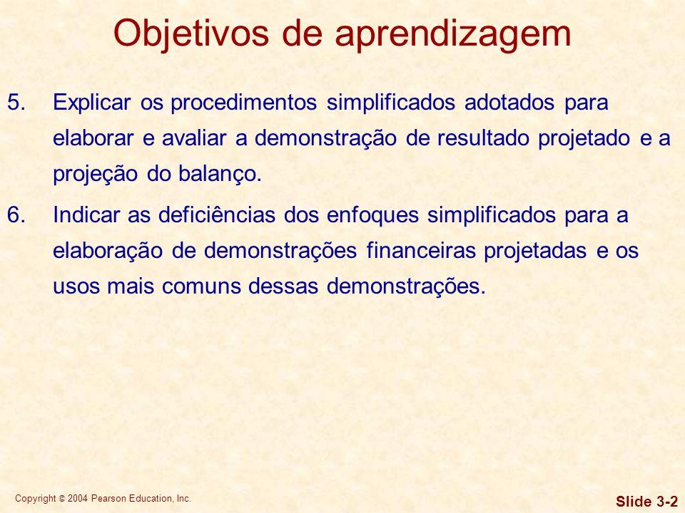 Copyright © 2004 Pearson Education, Inc. Slide 3-1 Objetivos de aprendizagem 1.Compreender o efeito da depreciação sobre os fluxos de caixa da empresa