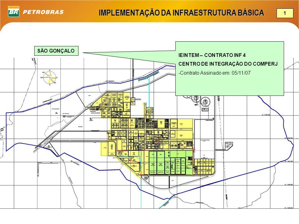IMPLEMENTAÇÃO DA INFRAESTRUTURA BÁSICA SÃO GONÇALO IEINTEM – CONTRATO INF 4 CENTRO DE INTEGRAÇÃO DO COMPERJ -Contrato Assinado em: 05/11/07 1