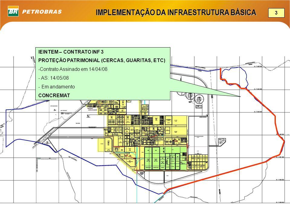 IMPLEMENTAÇÃO DA INFRAESTRUTURA BÁSICA IEINTEM – CONTRATO INF 3 PROTEÇÃO PATRIMONIAL (CERCAS, GUARITAS, ETC) -Contrato Assinado em 14/04/08 - AS: 14/0