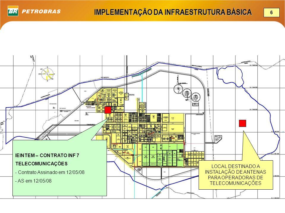 IMPLEMENTAÇÃO DA INFRAESTRUTURA BÁSICA 6 IEINTEM – CONTRATO INF 7 TELECOMUNICAÇÕES - Contrato Assinado em 12/05/08 - AS em 12/05/08 LOCAL DESTINADO A