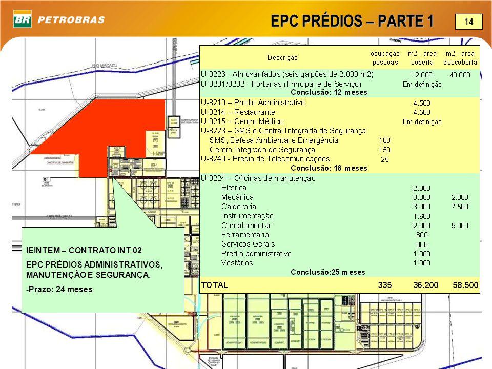 EPC PRÉDIOS – PARTE 1 IEINTEM – CONTRATO INT 02 EPC PRÉDIOS ADMINISTRATIVOS, MANUTENÇÃO E SEGURANÇA. -Prazo: 24 meses 14