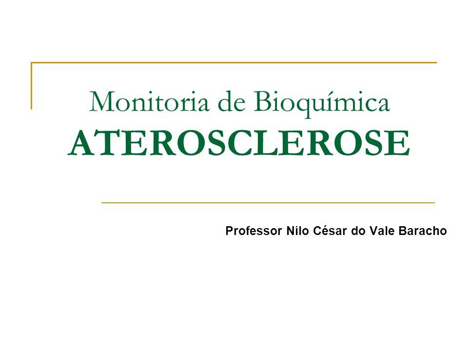 Monitoria de Bioquímica ATEROSCLEROSE Professor Nilo César do Vale Baracho