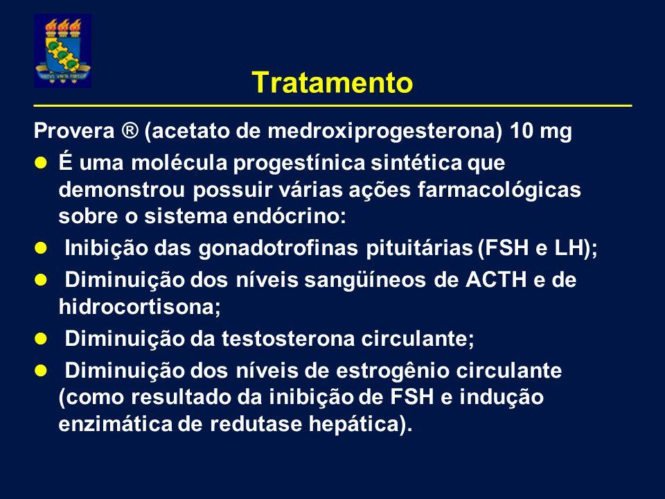 Provera ® (acetato de medroxiprogesterona) 10 mg É uma molécula progestínica sintética que demonstrou possuir várias ações farmacológicas sobre o sist