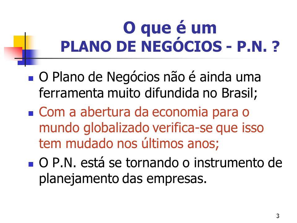 4 O que é um PLANO DE NEGÓCIOS - P.N.