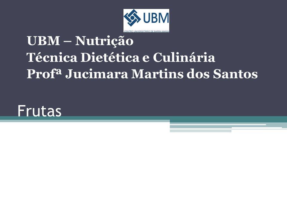 Frutas UBM – Nutrição Técnica Dietética e Culinária Profª Jucimara Martins dos Santos