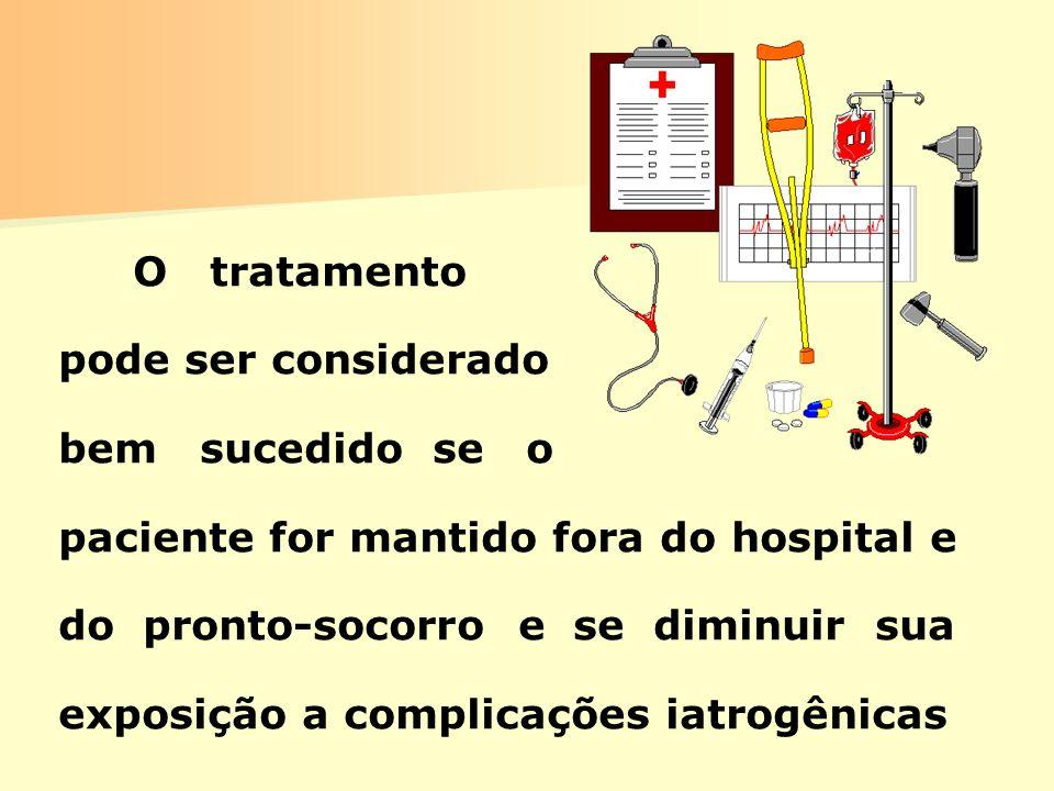 O tratamento pode ser considerado bem sucedido se o paciente for mantido fora do hospital e do pronto-socorro e se diminuir sua exposição a complicaçõ