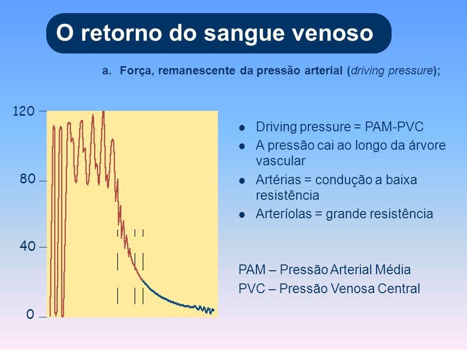 A gravidade altera a pressão venosa 20mmHg 0mmHg -10mmHg 0mmHg 90mmHg
