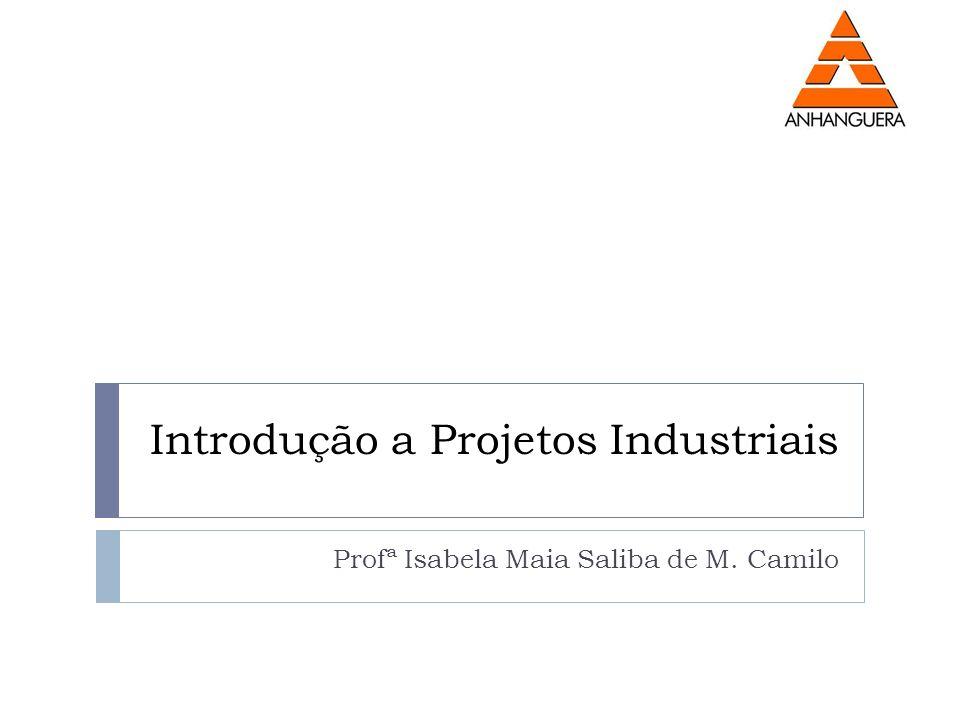 Introdução a Projetos Industriais Profª Isabela Maia Saliba de M. Camilo