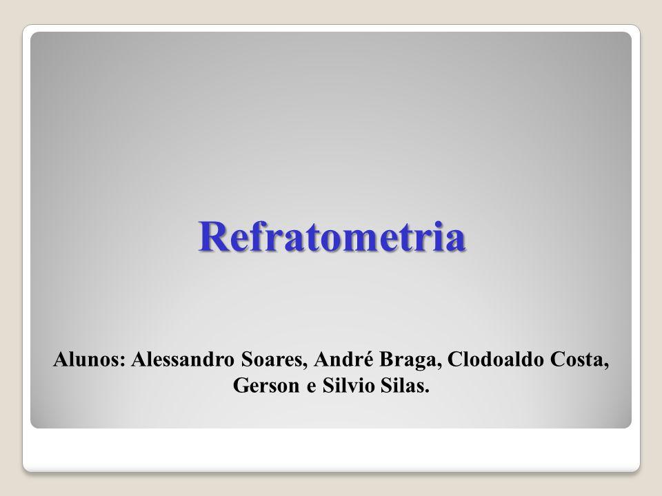 Refratometria Alunos: Alessandro Soares, André Braga, Clodoaldo Costa, Gerson e Silvio Silas.