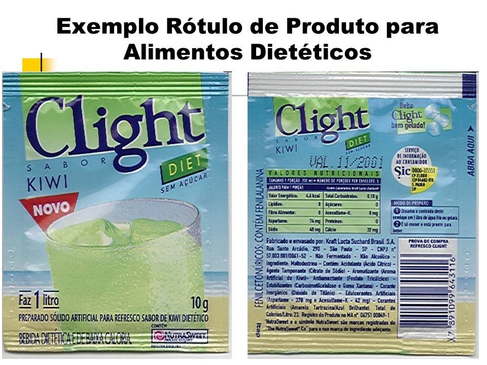 36 Exemplo Rótulo de Produto para Alimentos Dietéticos