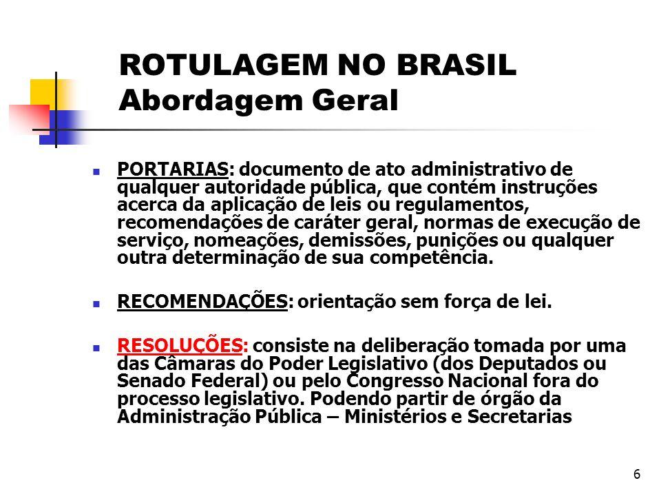 6 PORTARIAS: documento de ato administrativo de qualquer autoridade pública, que contém instruções acerca da aplicação de leis ou regulamentos, recome