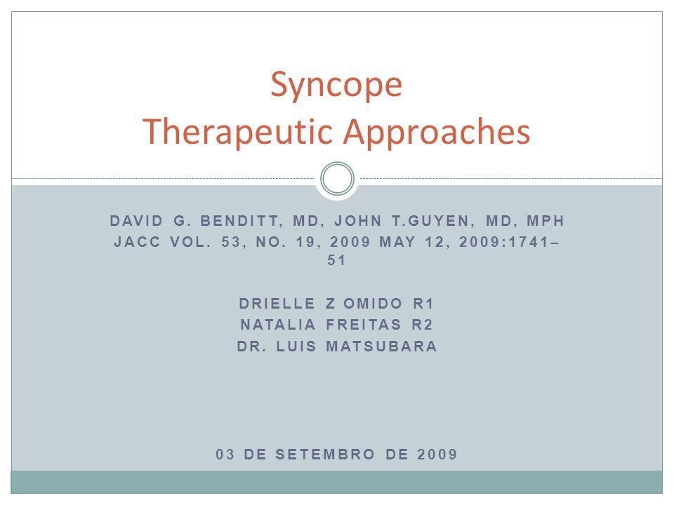 Síncope - Definição Perda temporária da consciência e do tônus muscular Recuperação rápida, espontânea e completa Causada por insuficiência de nutrientes cerebrais