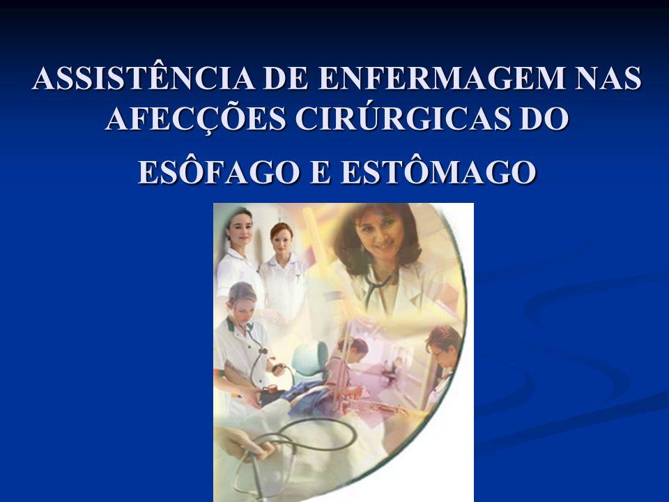 ASSISTÊNCIA DE ENFERMAGEM NAS AFECÇÕES CIRÚRGICAS DO ESÔFAGO E ESTÔMAGO