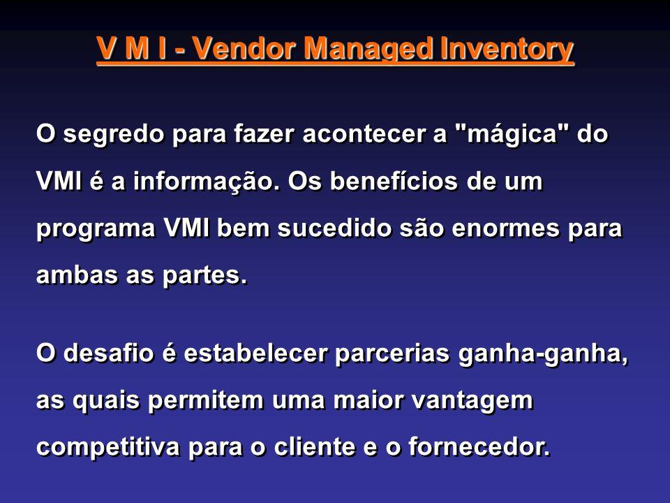 V M I - Vendor Managed Inventory O segredo para fazer acontecer a