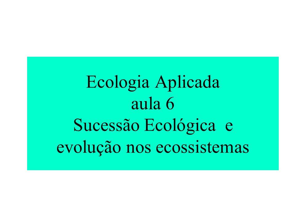 Ecologia Aplicada aula 6 Sucessão Ecológica e evolução nos ecossistemas
