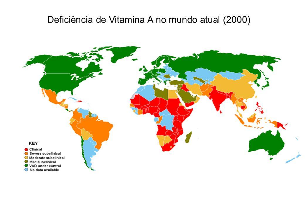 Deficiência de Vitamina A no mundo atual (2000)
