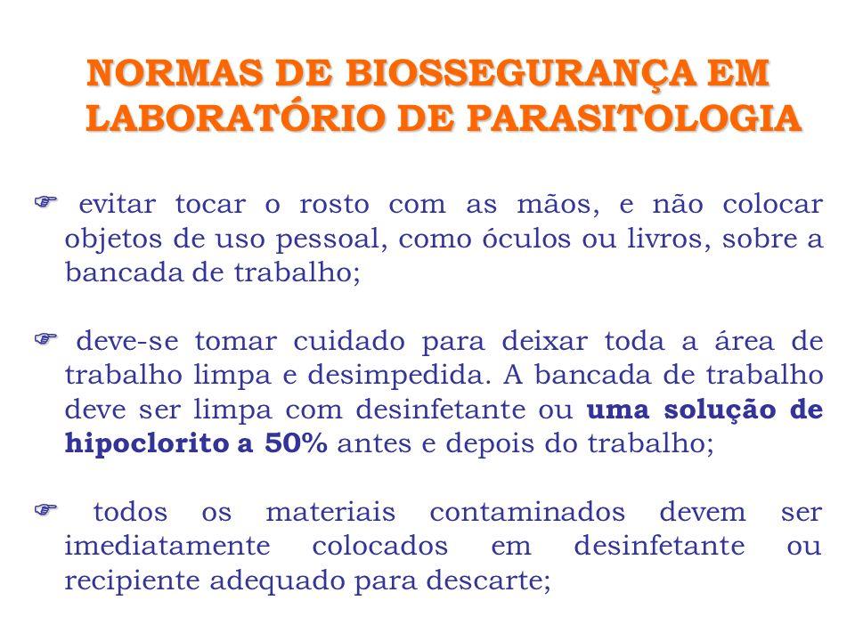 Protozoários : emissão dos estágios é irregular – cistos de G.